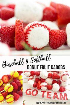 Baseball Team Snack Idea for Kids - Creative Mom 101 Softball Birthday Parties, Sports Themed Birthday Party, Softball Party, Baseball Party, Softball Mom, Sports Party, 5th Birthday, Softball Sayings, Softball Team Gifts