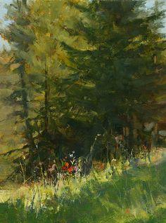 "Idaho Mountainside by Derek Davis Oil ~ 16"" x 12"""