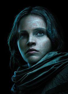 Rogue uno una historia de alta resolución de Star Wars Película Póster Jyn Observatorio Tx carácter cartel