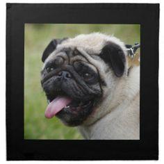 Pug dog napkin, cute photo table napkin