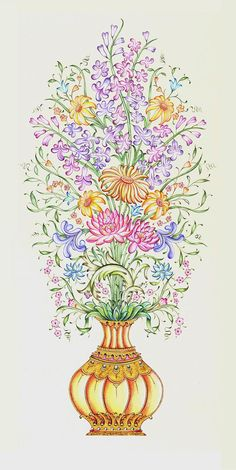 Selim Sağlam Islamic Patterns, Doodle Patterns, Indian Art Paintings, Original Paintings, Turkish Art, Beautiful Drawings, Islamic Art, Pattern Art, Flower Designs