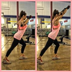 Who loves cables? Why not try a cable shoulder press to your next workout! If you're up for it- add a squat to shoulder press ;) -B