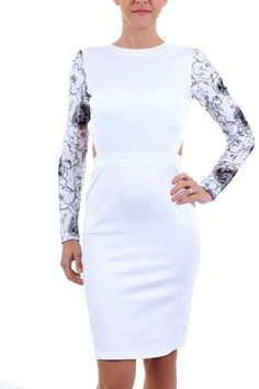Backless dress lace long sleeves, £34.00