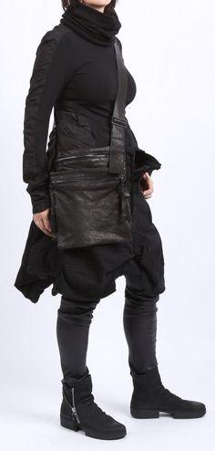 rundholz dip - Bluse Stoff Mix Stretch Popeline black - Winter 2016 - stilecht - mode für frauen mit format...