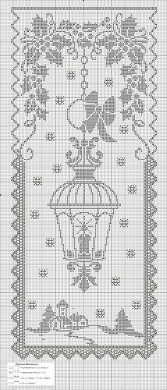 Gardine/Vorhang Laterne/Winter Curtain / curtain Lantern / winter Curtain / curtain Lantern / winter The post Curtain / curtain Lantern / winter appeared first on curtains ideas. Crochet Shawl Free, Filet Crochet Charts, Cross Stitch Charts, Cross Stitch Designs, Cross Stitch Patterns, Crochet Books, Crochet Home, Thread Crochet, Crochet Stitches