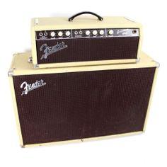 Vintage 1962 Brownface Fender Bassman 6G6 B 50W 2x12 Piggyback Amp | eBay