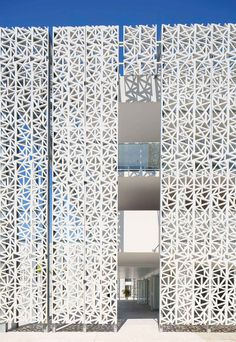 "This whole post. So many wonderful ""Perfectly Perforated"" images!! Nakara Residential Hotel by Jacques Ferrier Architectures 