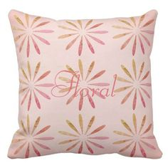 Cute Pink Abstract Floral Pattern Pillow - pattern sample design template diy cyo customize