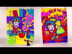 Crayola Color come to life in Series II: Pips Markers in Disguise! I loved producing this colorful demo, full of characters like Mulberry Mage, Shocking Pink and Doctor Sillybones. Markers, Action Figures, Characters, Colorful, Tips, Sharpies, Figurines, Sharpie Markers, Counseling