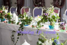 Tavolo degli sposi, i toni del rosa