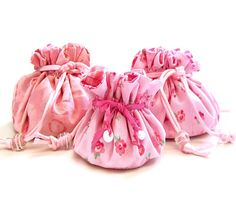 Small Breast Cancer Gift Bag Pink Pouch