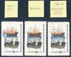 """#1420 VAR """"PILGRIMS"""" MAGENTA COLOR OMITTED UNIQUE MAJOR ERROR W/ APS CERT WL2669"""