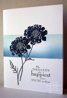 BLUE FIELD FLOWERS by Studio M - Cards and Paper Crafts at Splitcoaststampers