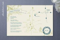#wedding #invitation #map abodelove.com