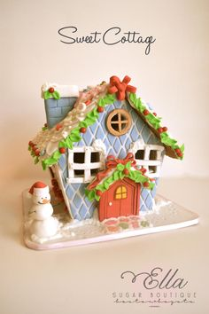 Sweet Cottage Gingerbread House with Tutorial