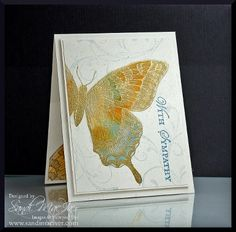 Swallowtail Sponged by SandiMac - Cards and Paper Crafts at Splitcoaststampers