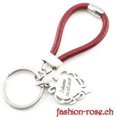 Edler Schlüsselanhänger mit Barbapappa Amulett als Geschenk Online kaufen verschenken Personalized Items, Fashion, Amulets, Silver Jewellery, The Last Song, Red, Leather, Moda, Fashion Styles