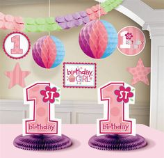 Birthday Girl Decorating Kit Party Supplies Celebrate Your Babys First In Style Includes