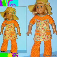 American Girl Doll Julie 1970s Clothes  Bell by CSBSewsDollClothes, $52.00