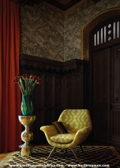 JIM THOMPSON's wallpaper collection 'The Scarlet Letter' (january 2016) - www.jimthompsonfabrics.com - www.bartbrugman.com