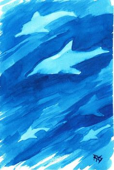 Dolphins painting