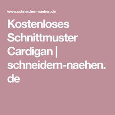 Kostenloses Schnittmuster Cardigan | schneidern-naehen.de
