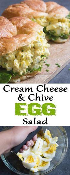 egg salad egg salad sandwich cream cheese egg salad cream cheese hard boiled eggs egg salad with chives egg salad coco and ash Cream Cheese Eggs, Cream Cheese Recipes, Recipes With Chives, Cottage Cheese Eggs, Flavored Cream Cheeses, Sandwich Cream, Salad Cream, Egg Salad Sandwiches, Steak Sandwiches