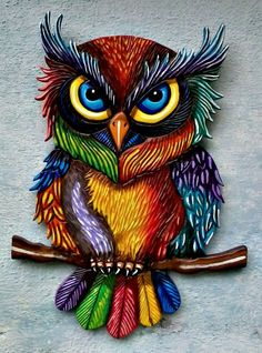 Beautiful Art - stylised Owl.