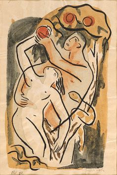 Genesis - 12 stencils with extensive hand-coloring, 1935 - David Park (1911-1960) by TeresaH12~~~bizzyazabee, via Flickr