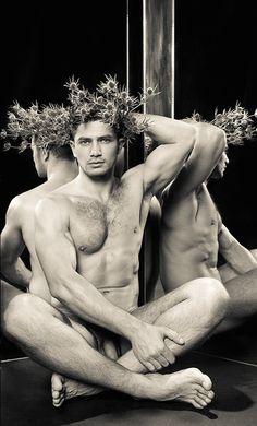 Male model body art nude
