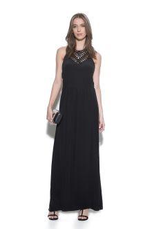 vestido seda longo pala macramê / Animale e-Store