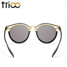 Gradient Female Retro SunGlasses Women's Sunglasses, Mirrored Sunglasses, Lenses, Female, Style, Fashion, Swag, Moda, Stylus