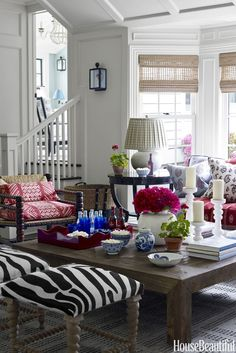 A designer took her love of vivid patterns and romantic color schemes to new heights.