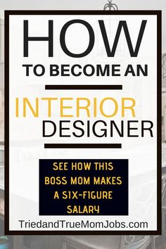 How to Become an Interior Designer and Make a Six-Figure Income Do you watch HGTV and think, I can do that, I want to do that? Well, today I'm going to show you how you can become an Interior Designer. Interior Design Basics, Office Interior Design, Office Interiors, Interior Decorating, Design Blogs, Design Websites, Interior Design Education, Interior Design Business Plan, Interior Design Courses Online