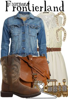You will be the most stylish gal on the Frontier in this Frontierland outfit | Disney Fashion | Disney Fashion Outfits | Disney Outfits | Disney Outfits Ideas | Disneybound Outfits | Disneyland Outfit | Disney World Outfit |