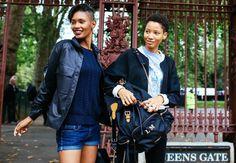 Ysaunny Brito and Lineisy Montero (right); British Fashion Week - Street Style - Vogue.com