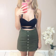 Straps Cropped Top