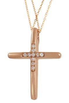 Γυναικείος Σταυρός Val'Oro Βαπτιστικός Σταυρός Ροζ Χρυσός 14 Καράτια - E-oro.gr ΧΡΥΣΑ ΛΕΥΚΟΧΡΥΣΑ ΚΟΣΜΗΜΑΤΑ Christening, Symbols, Glyphs, Icons