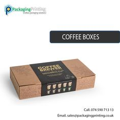 Custom Made Coffee Packaging Boxes. Get instant quote now