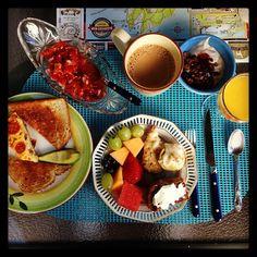 The perfect home made #breakfast in a great morning at Kathleen's Kottage in #MarthasVineyard #TopTripadvisor #MorningBreakfast #TripToUSA