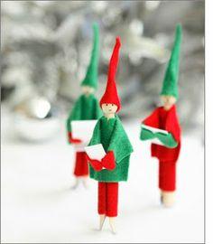 Wooden dolly clothes peg elves via taradennis.com.au