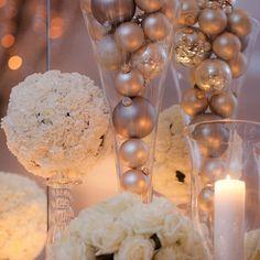 Centro de mesa invernal #bodas #flores