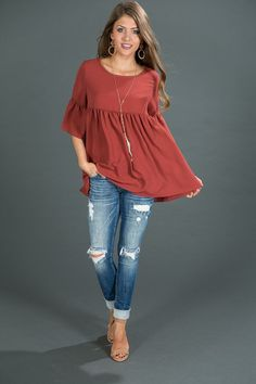 Oh So Sweet Shift Top in Aurora Red $32.00