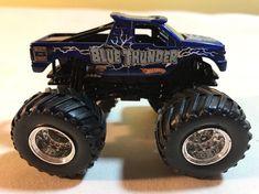 Hot Wheels Monster Jam Blue Thunder Diecast Monster Truck 1:64 #HotWheels