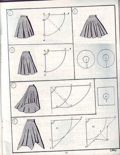 Not english - FABULOUS range of skirts picture & pictures of  patterns ideas that create different shaped skirts - from modern to classic.