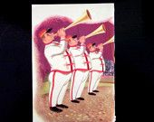 Brass band Vintage Disney book page 1960s