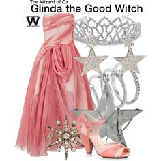 Inspired by Billie Burke as Glinda the Good Witch in 1939's The Wizard of Oz.