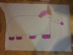 Pin the tail on the fluffy unicorn