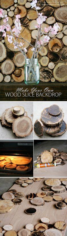Wood Slice Backdrop