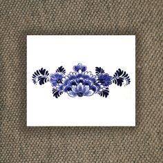"""Große floral niederländischen """"Delfts Blauw' Rücken Tätowierung"""